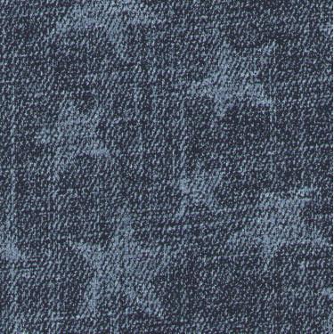 Výplněk elastický tm.modrý Jeans denim s hvězdami