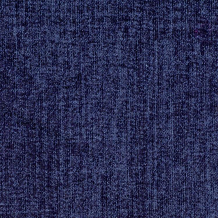 Teplákovina tm.modrý potisk Jeans denim, rub POČES - akční cena