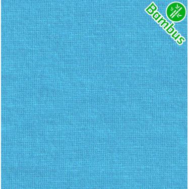 Jednolíc elastický BAMBUS vis./Lycra 4% tyrkys 395