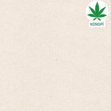 Jednolíc elastický BIO bavlna/Lycra4% natur přírodní