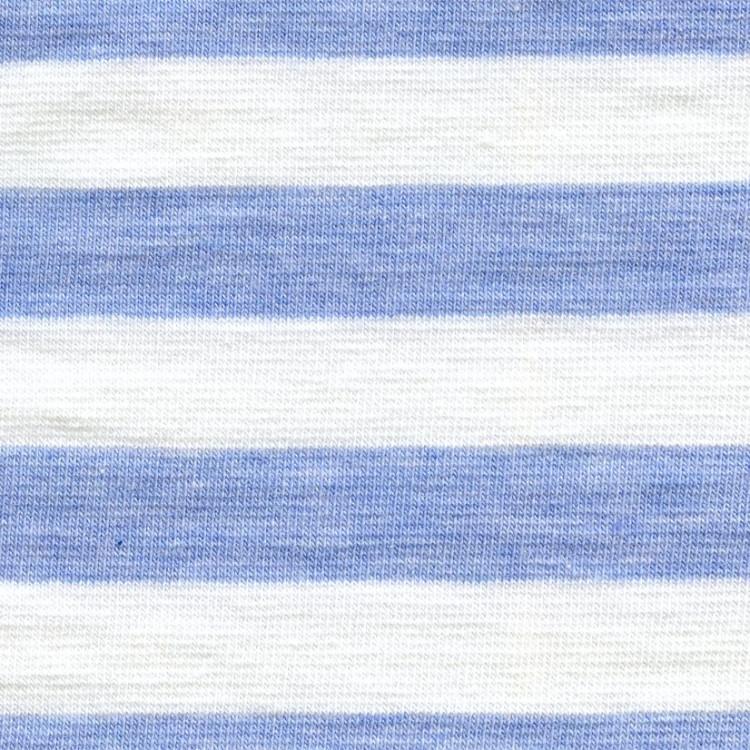 Jednolíc elastický 4%Lycra modré melé-bílý proužek 1,3cm