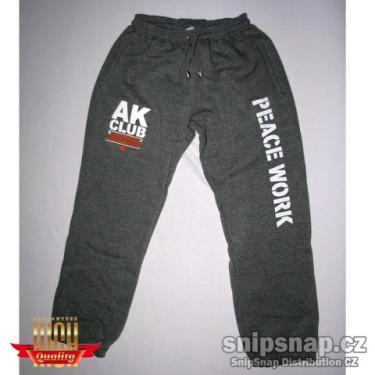 Tepláky (užší nohavice) TOMSTAR AK CLUB - šedé melé