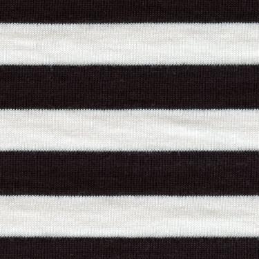 Jednolíc proužek 1,3cm bílo-ČERNÝ