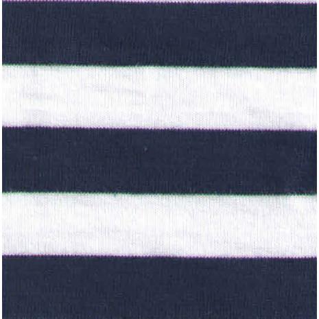 Jednolíc proužek 1,3cm bílo-tm.modrý
