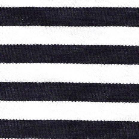 Oboulíc 50% BIO bavlna proužek bílo- tm.modrý 1cm (260gr)