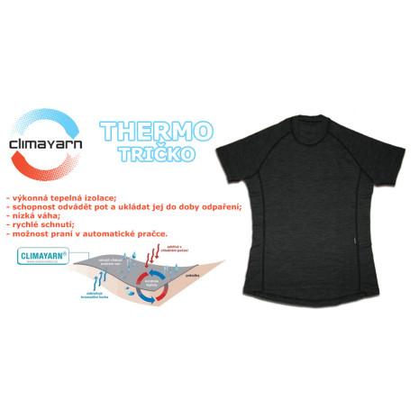 Pánské termo tričko kr.r. Climayarn antracit